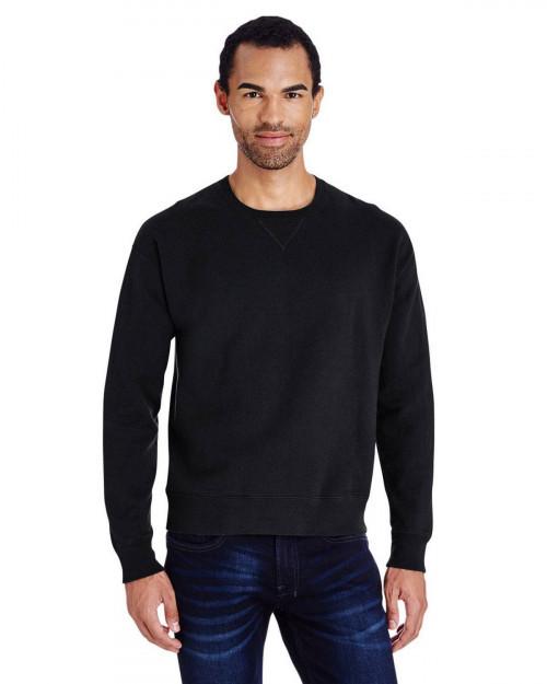 ComfortWash by Hanes GDH400 80/20 Crewneck Unisex Sweatshirt - Black - S #%20