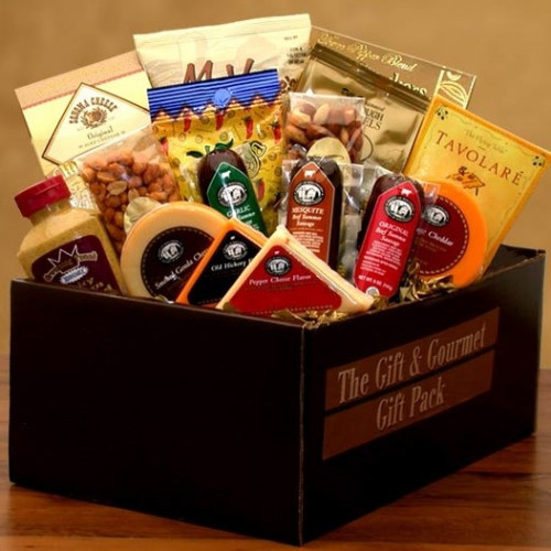 A care package for a soldier or the whole family. Give a delicious gift that's also sophisticated and satisfying a pairing of classic Salamis with assorted Cheeses, crackers, nuts and more. Your gift comes packed in a elegant gift box. Actual gift box mea #gift