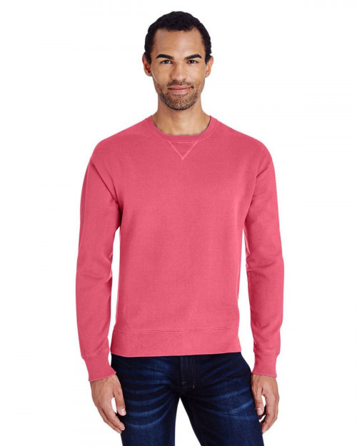ComfortWash by Hanes GDH400 80/20 Crewneck Unisex Sweatshirt - Crimson Fall - S #%20