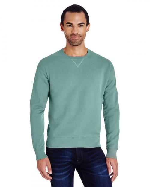 ComfortWash by Hanes GDH400 80/20 Crewneck Unisex Sweatshirt - Cypress Green - S #%20