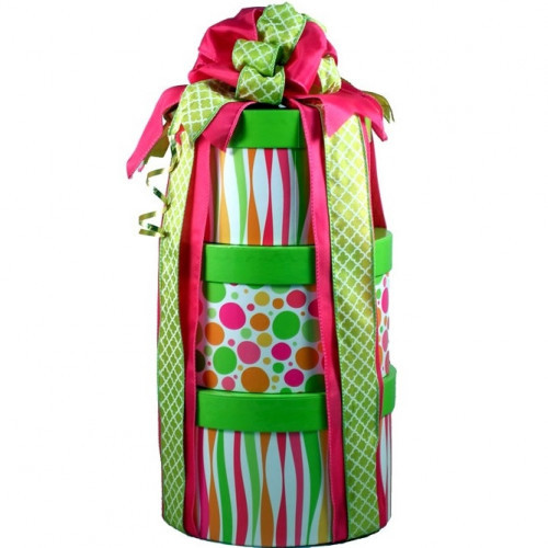 A trio of keepsake designer boxes filled with sweet goodies is perfect for any occasion. Three boxes filled with deliciously tempting treats is sure to impress! Recipients will enjoy discovering all of the wonderful sweets as they open each box! A scrump #gift