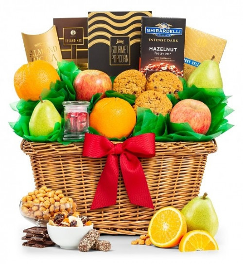 The perfect trio of fresh fruit, sweet confections and savory flavors! Indulge all of your senses with a gift that explores sweet, savory and juicy! Our fruit Celebrations Gift Chest make the perfect gift for that special someone who likes a little of eve #gift