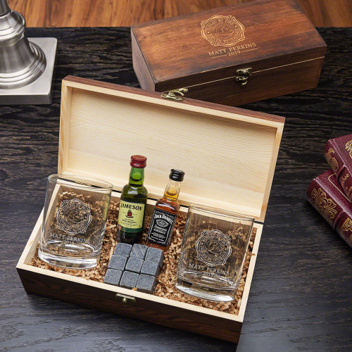No matter how daunting a situation, firefighters keep their cool. That's why it's important for them to cool down with a whiskey gift set. This is one of those personalized firefighter gift ideas for him that will make him smile when he gets home from #gift