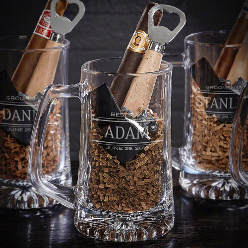 You chose your best man because he's been your friend through thick and thin. Now you can get him a unique, personalized best man gift set that shows him how much his friendship has meant. A black, flip-top lighter will be perfect anytime he wants to en #gift