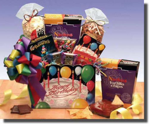The Happy Birthday Gift Box says happy birthday with great taste! Gourmet treats abound in this gift basket. Sweet and savory treats are sure to make the birthday special when the Happy Birthday Gift Box arrives. Send one to someone you love today! Everyo #gift