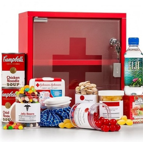 Send someone a dose of good cheer as the perfect get well gift! Our little medicine chest is full of everything a sick friend would need for a quick recovery! #gift