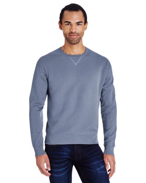 ComfortWash by Hanes GDH400 80/20 Crewneck Unisex Sweatshirt - Saltwater - S #%20