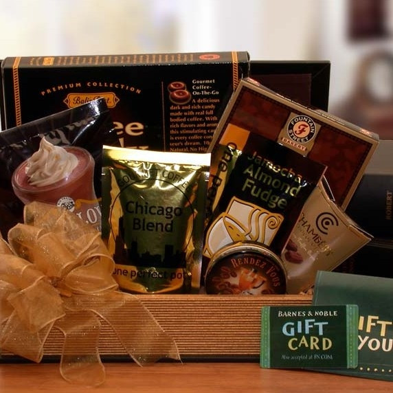 A bookend style chest filled with sweet treats and a $25 Barnes & Noble gift card. It's sure to be a Best Seller! #gift
