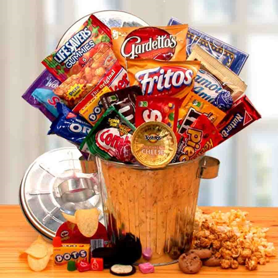 It's a jungle out there and everyone needs a little help surviving sometimes. Our Snack Survival gift can is filled to the brim with munchies like Oreo cookies, Reese's Pieces candies, M and M candies, Famous Amos cookies and more. Give someone special a #gift