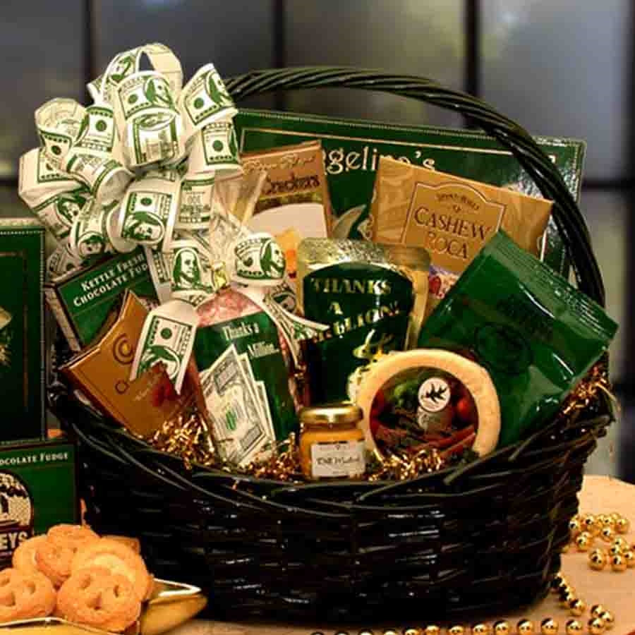 Say Thank You in a big way. There's no better way to say thanks a million than with the Heartfelt Thank You Gift Basket. This large and delicious assortment of tastes sends the right message to just about anyone deserving of your gratitude. They will en #gift