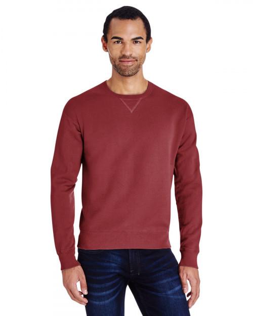 ComfortWash by Hanes GDH400 80/20 Crewneck Unisex Sweatshirt - Cayenne - S #%20