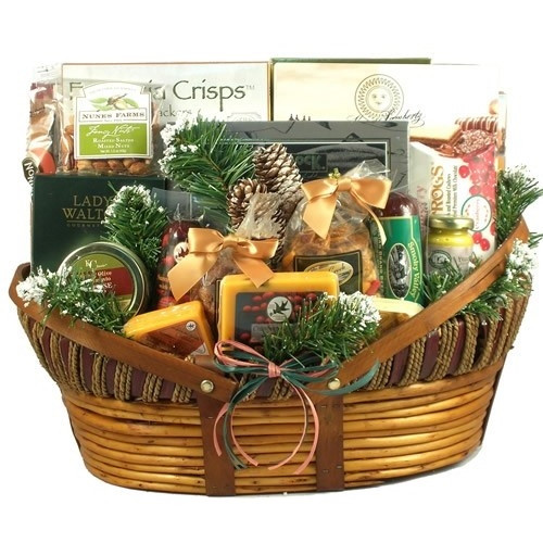 Now your favorite Christmas basket is available in an Extra Large Size!You asked and we listened! We made this popular gift even bigger for your larger offices and family get togethers! Everyone loves this wonderful holiday gift filled with all-time favor #gift