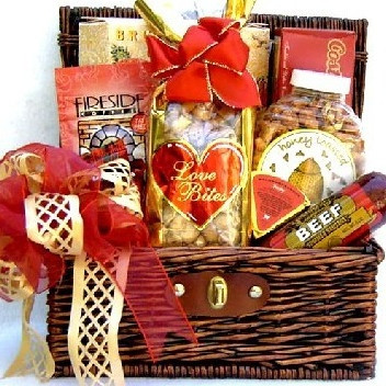 This gourmet assortment features savory snacks and scrumptious sweets perfect for any occasion! #gift
