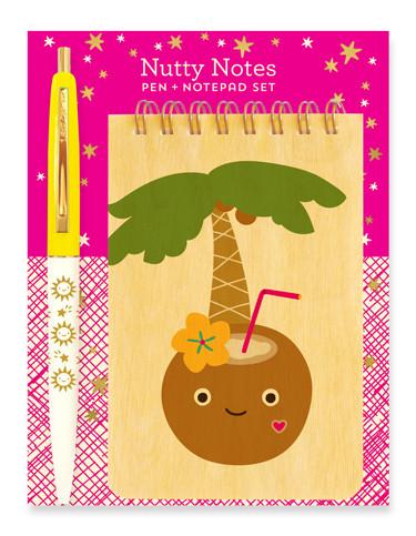 wood mini notepad + pen gift set #gift