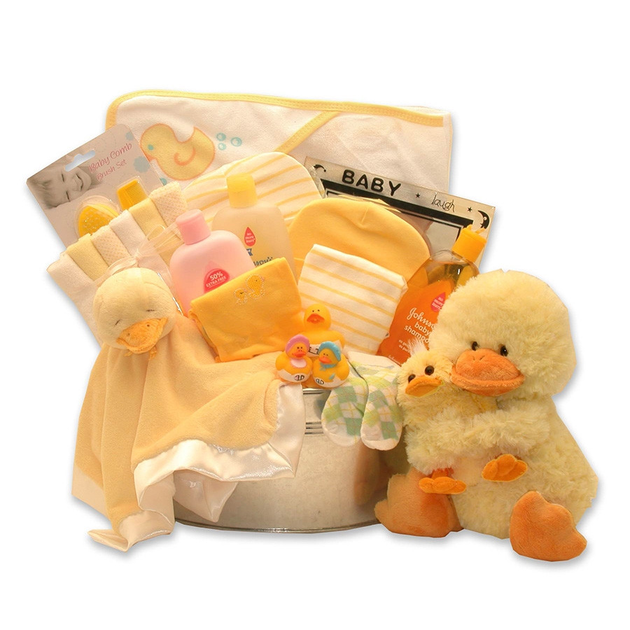 All the Right Baby Products are Here! It's Bath Time for Baby with this Fantastic Gift! Bath time will be loads of fun for baby, included is a Russ Berie musical Mommy & Me Duckling, plus tons more stuff. Now that's a new twist on a Rubber Ducky! 2 Sizes #gift
