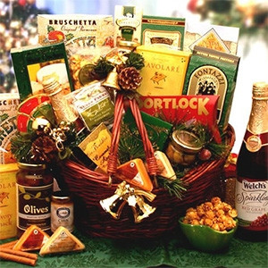 Everyone will have a sweet spot for this impressive gift basket design. Send warm tidings of comfort and joy to dear friends and beloved family members no matter where they're spending this holiday season. Inside this attractive market basket They'll disc #gift