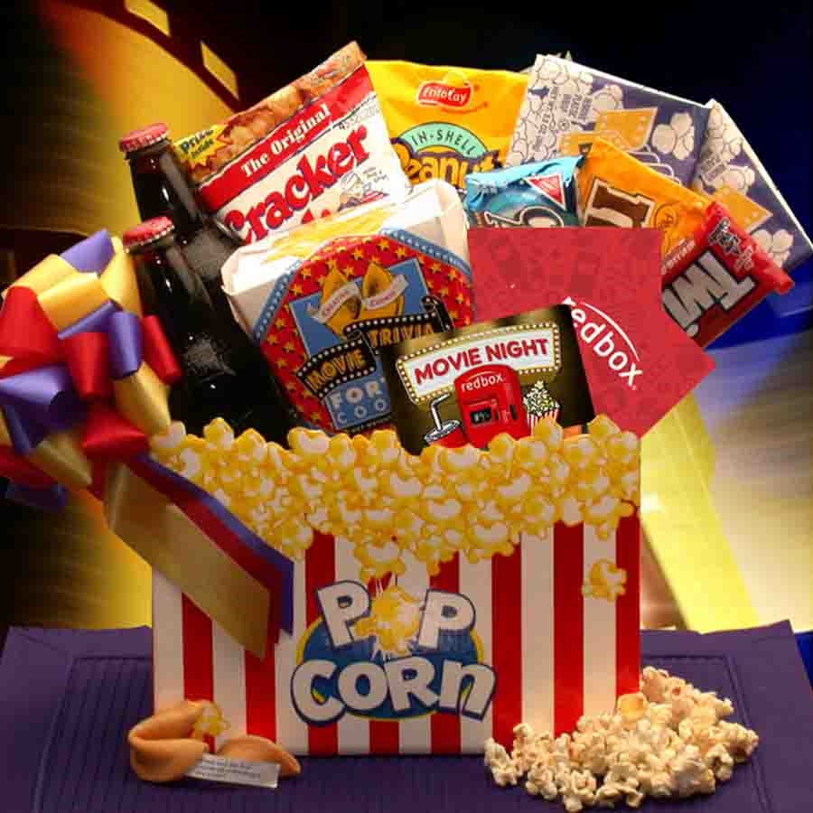 Movie goers will adore this gift box! Savor these treats at home, or sneak them into the theater. #gift
