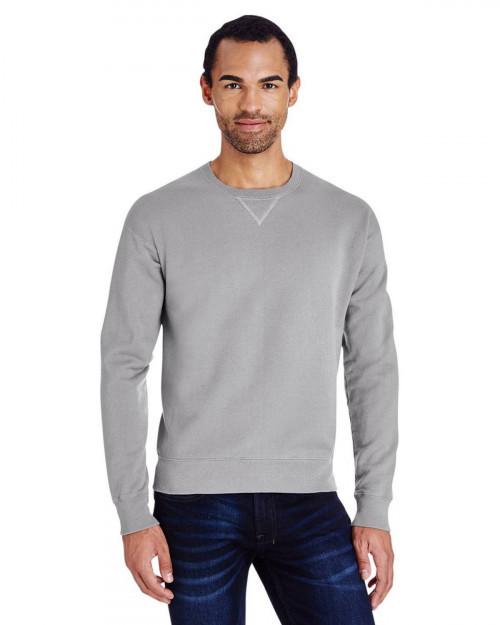 ComfortWash by Hanes GDH400 80/20 Crewneck Unisex Sweatshirt - Concrete - S #%20