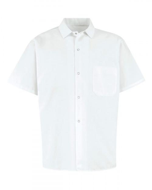 Chef Designs 5028 Men's 80/20 Poplin Cook Shirt - White - S #%20