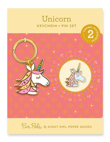 keychain + pin gift set #gift