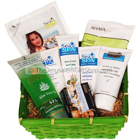 Dip into our Dead Sea Gift Basket for a complete skin workout - sure to invigorate from head to toe! This gift basket contains the following products:Ahava Dead Sea Salt Crystals (250grm)Sea of Spa Hand Cream with Avocado (100ml)Sea of Spa Foot Cream with #gift