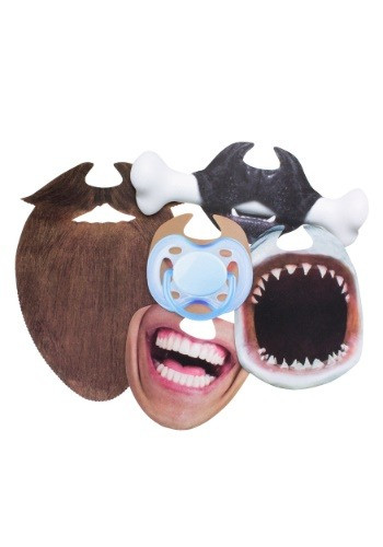 Here's a mask just for your mouth that is guaranteed to grab extra attention in your selfies, shared personally at parties or on Social Media. In fact, you can add extra fun at your parties when everyone shares these masks and lots of pictures are capture #gift