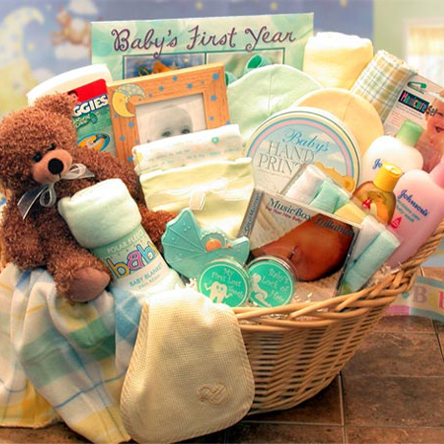 Everything Baby Needs is Here! Baby comes Home Gift Set! New parents love our baby's first gift set when they arrive back from the hospital. This gift includes Baby's First Haircut, Baby's First Tooth Keepsake, Stuffed Bear & lots more. Welcome Home Baby! #gift