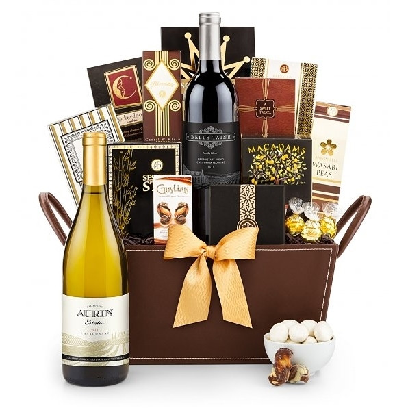 Give a generous gift of the joys of the wine country lifestyle. The basket includes a bottle of Cabernet Sauvignon, the finest gourmet foods & confections. #gift