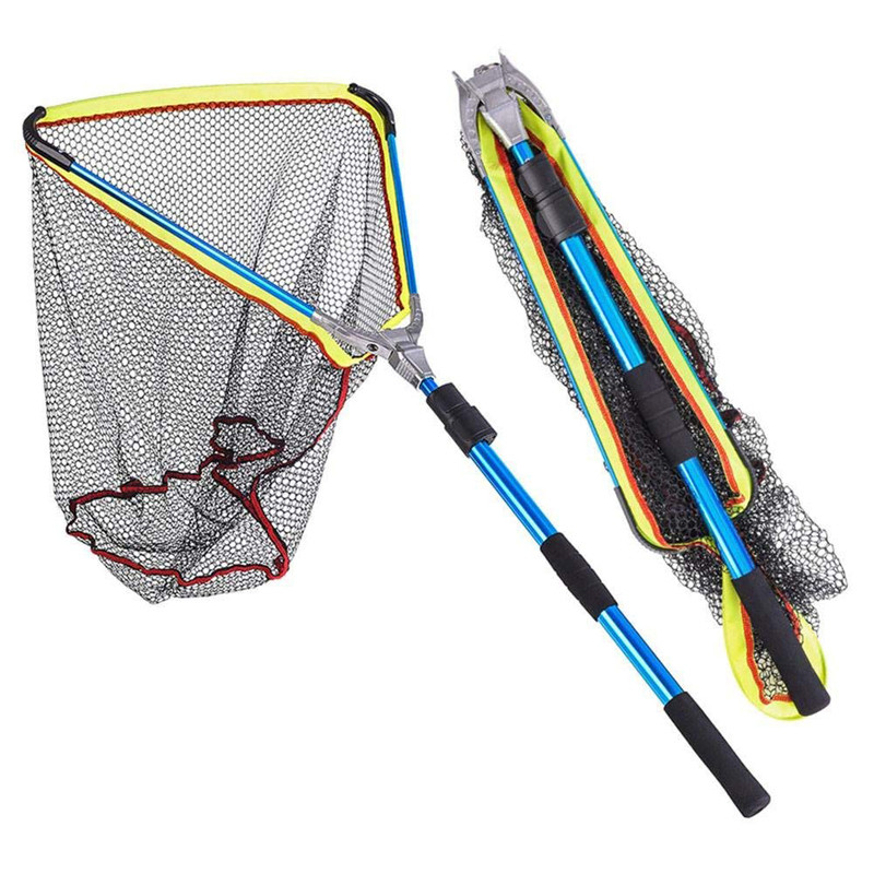 Specifications: Item Fishing Net Brand LEO Material Aluminum alloy, nylon Net Head Size 50 x50 x 60cm Length 200cm Contract Length 72cm Weight 700g Features: Brand New and high quality. Aluminium Alloy Handle and Hoop: Durable construction of hoop and alu #fish