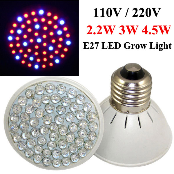 2.2W 3W 4.5W E27 Garden Plant Seedling Growth LED Bulb Plants in the greenhouse or laboratory, can completely replace the natural light, to promote plant growth. Apply to Hydroponic, gardening, Greenhouse Lighting, Seeding, Seedling, Breeding, Farm, Flowe #plant