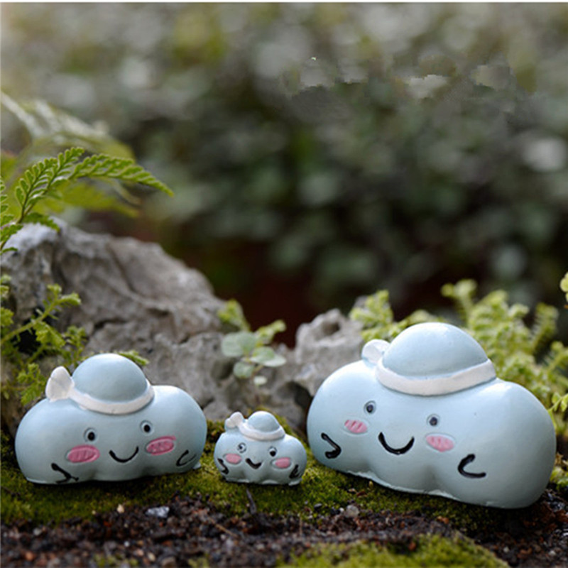 Descriptions: Micro Blue Clouds Landscape Resin Potted Plant Microlandschaft Garden DIY Ornaments This micro landscape with cute blue cloud shape helps you to creat a fairy world. It can be placed in flower pot, fish tank, mini garden or in a terrarium. I #plant