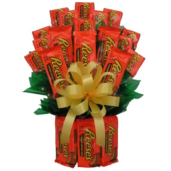 Reese's Peanut Butter Cups fans are passionate about their candy and they have made the Reese's Candy Bouquet our most popular candy gift. We created this all Hersey's Chocolate Reese's Bouquet to satisfy the taste buds of Reese's candy lovers. This candy #gift