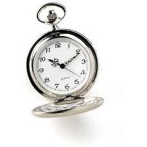 Wonderland's White Rabbit would enthusiastically trade in his carrots for this smart stainless steel pocket watch. with a 1 1/2 face and engraved closure, it hangs securely from a traditional 14 braided chain. Never be late for another very important date #gift