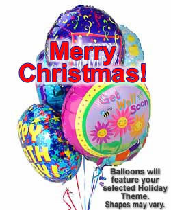 This luminous bouquet of a half dozen themed balloons is a superb way to celebrate a special Christmas. #gift