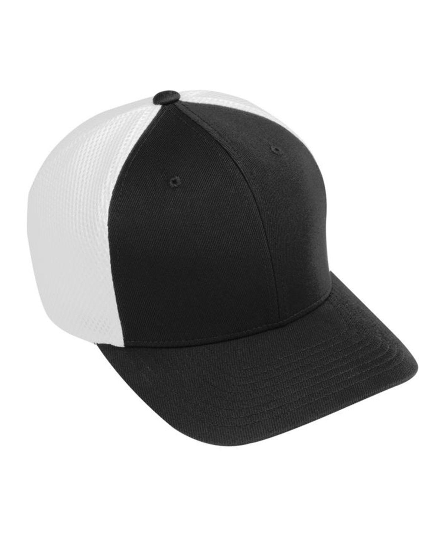 Augusta Sportswear AG6301 Youth Flex Fit Vapor Cap - Black/ White - One Size #vapor