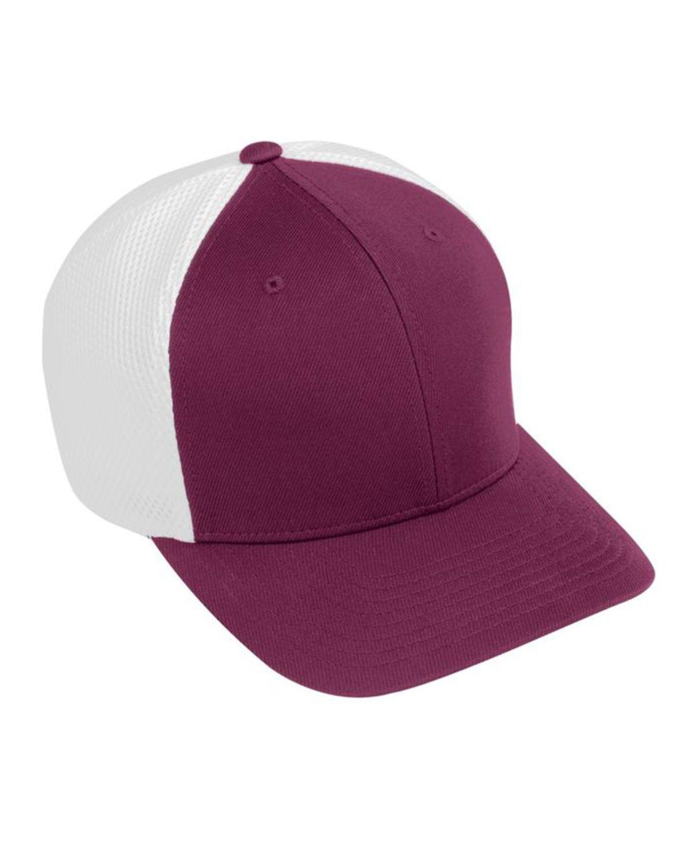 Augusta Sportswear AG6301 Youth Flex Fit Vapor Cap - Maroon/ White - One Size #vapor
