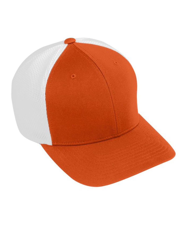 Augusta Sportswear AG6301 Youth Flex Fit Vapor Cap - Orange/White - One Size #vapor