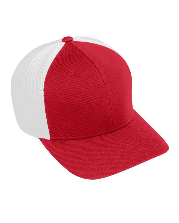 Augusta Sportswear AG6301 Youth Flex Fit Vapor Cap - Red/ White - One Size #vapor