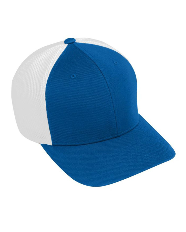 Augusta Sportswear AG6301 Youth Flex Fit Vapor Cap - Royal/ White - One Size #vapor