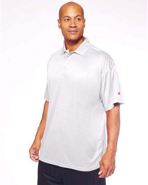 Champion Ch407 Men's Vapor Big & Tall Short-Sleeve Polo - White - XLT #vapor