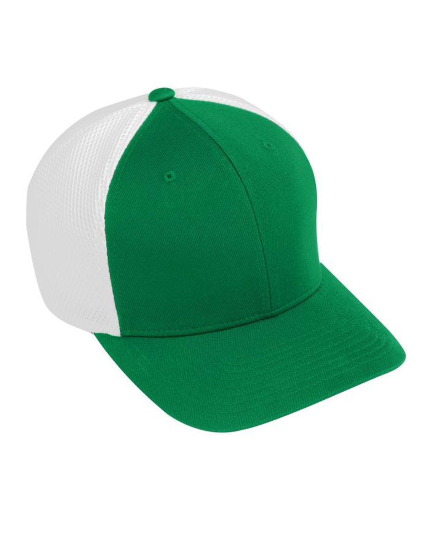 Augusta Sportswear AG6301 Youth Flex Fit Vapor Cap - Kelly/ White - One Size #vapor