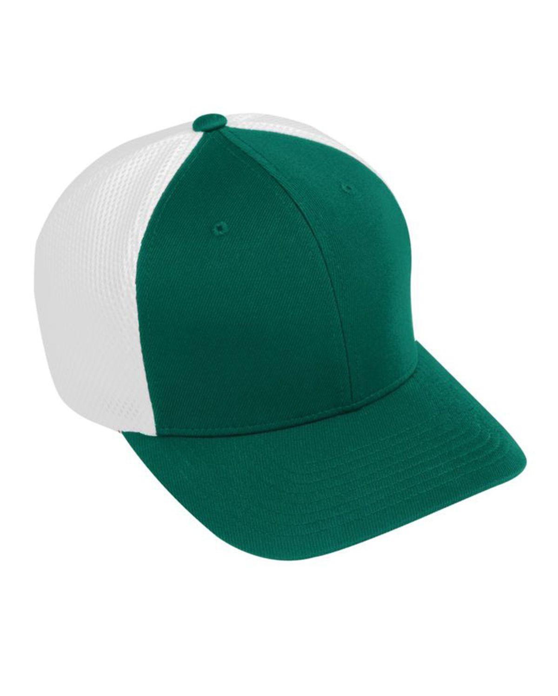 Augusta Sportswear AG6301 Youth Flex Fit Vapor Cap - Dark Green/White - One Size #vapor