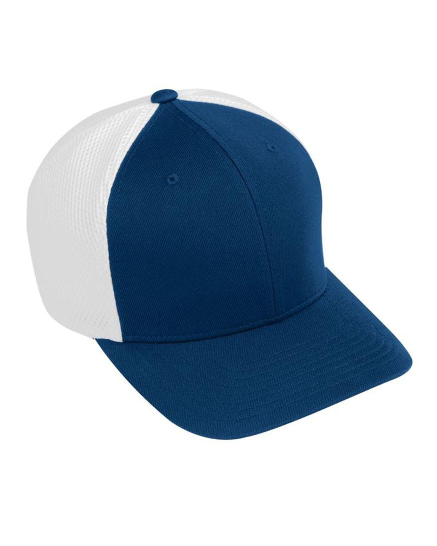 Augusta Sportswear AG6301 Youth Flex Fit Vapor Cap - Navy/ White - One Size #vapor