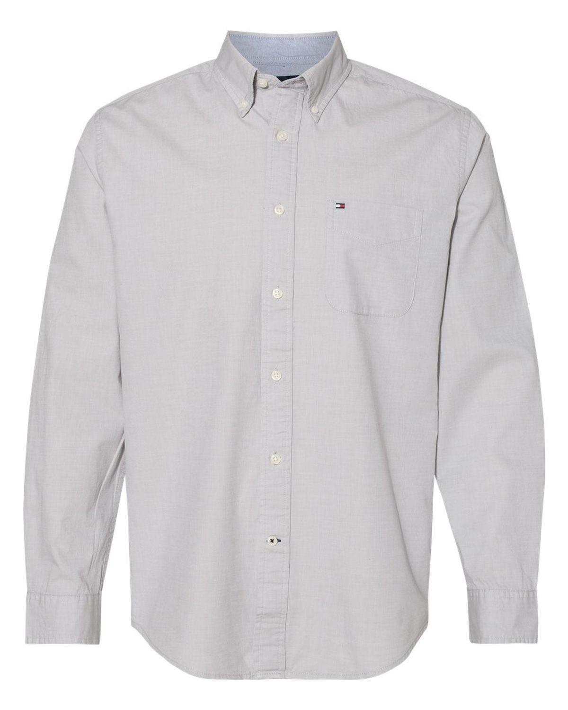 Tommy Hilfiger 13H1861 Men's Capote End-on-End Chambray Shirt - Vapor - S #vapor