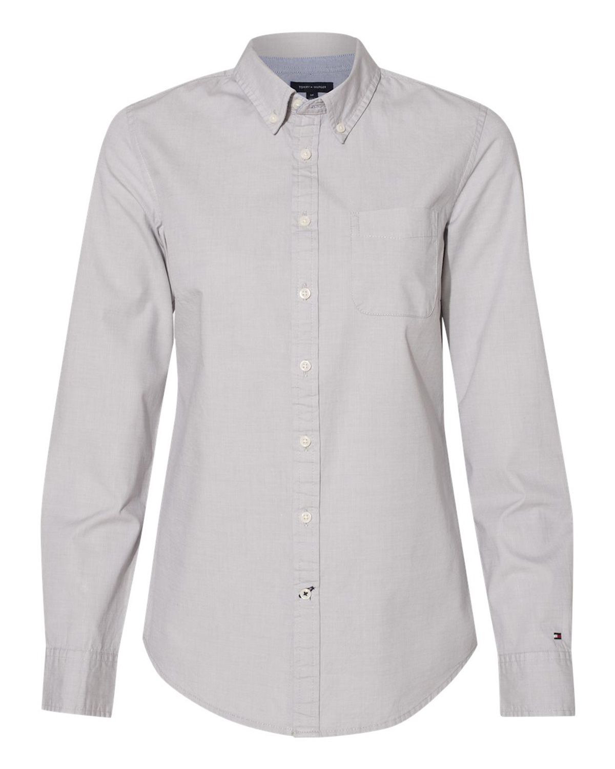Tommy Hilfiger 13H4377 Women's Capote End-on-End Chambray Shirt - Vapor - S #vapor
