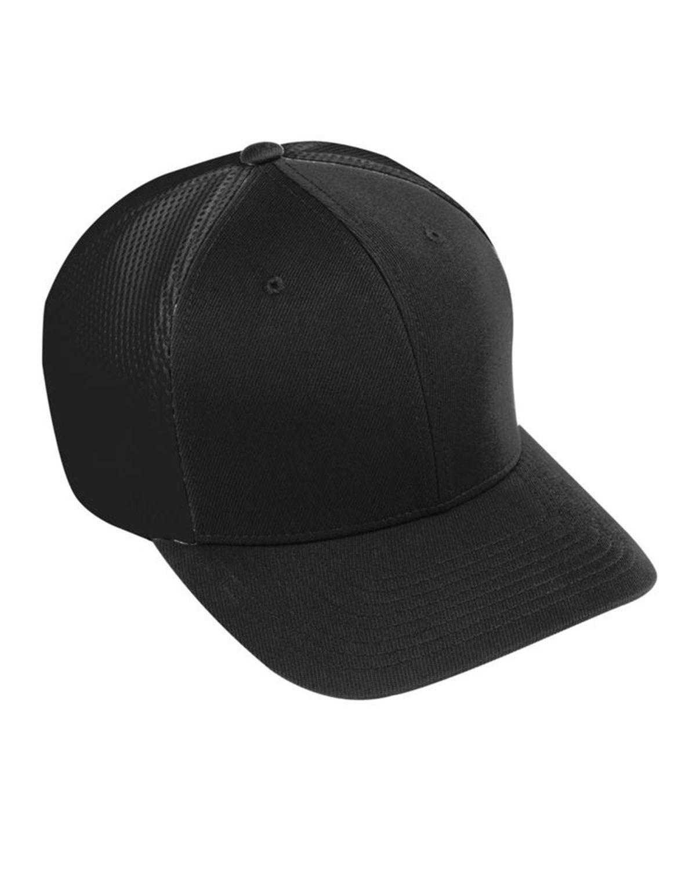 Augusta Sportswear AG6301 Youth Flex Fit Vapor Cap - Black/ Black - One Size #vapor