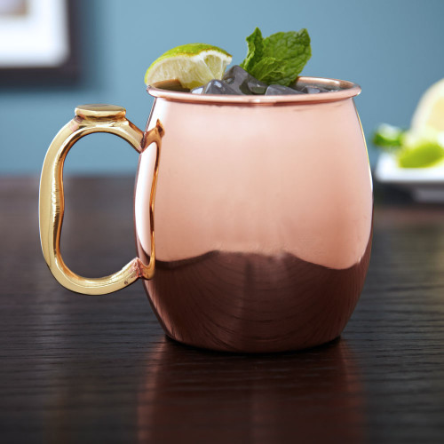 The Moscow mule is a delicious mixed drink, combining ginger beer, vodka, lime and mint. Properly serve these ice cold drinks in our copper Moscow mule mug! Holding 20 ounces, our copper mule mug is stainless steel lined on the inside for easy cleaning wi #%20
